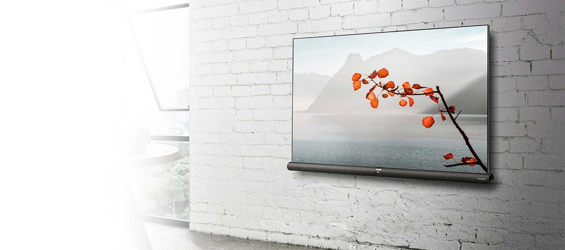 TCL tv c6 on the wall