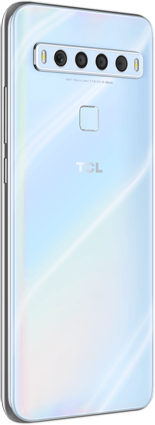 TCL 10 L arctic white back left