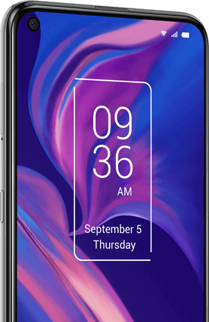 TCL Plex opal white NXTVISION optimized display