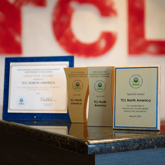 TCLcares Sustainability Program Earns Top Awards from EPA