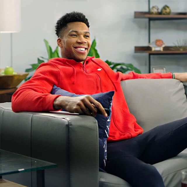 Behind the Scenes Filming with Brand Ambassador Giannis Antetokounmpo