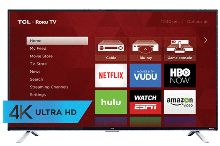 "TCL 55"" US5800 4K UHD LED Roku Smart TV - Front View"