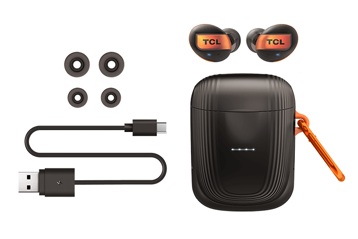 TCL Black True Wireless In-ear Bluetooth Headphones - All