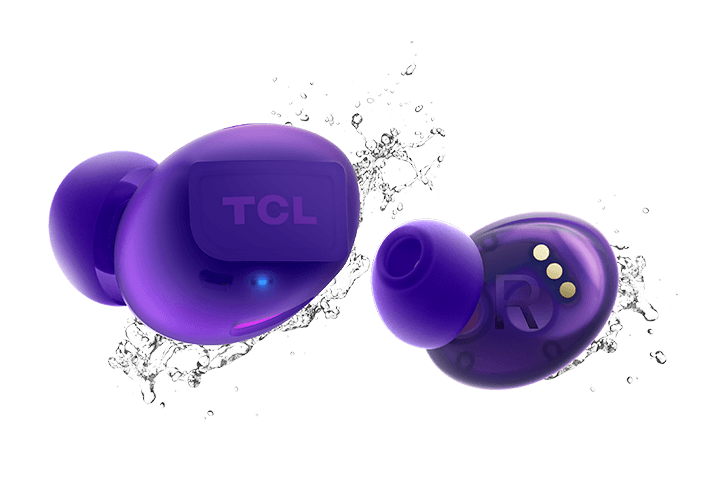TCL Sunrise Purple True Wireless In-ear Bluetooth Headphones - IPX4