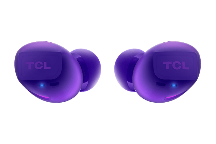 TCL Sunrise Purple True Wireless In-ear Bluetooth Headphones - Headphones Front