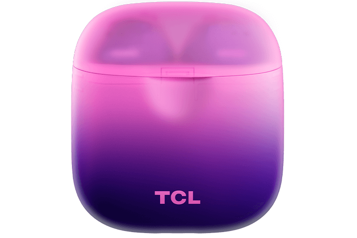 TCL Sunrise Purple True Wireless In-ear Bluetooth Headphones - Case Front
