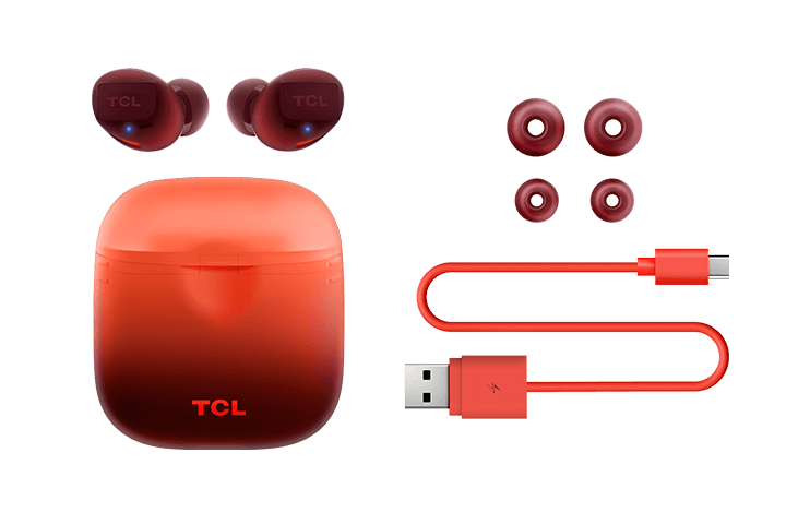 TCL Sunset Orange True Wireless In-ear Bluetooth Headphones - All