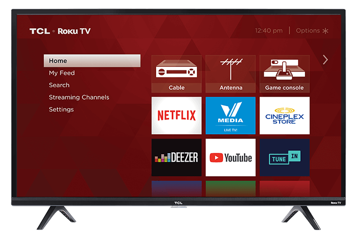 "TCL 40"" Class 3-Series FHD LED Roku Smart TV - Front View"