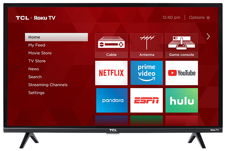 "TCL 32"" Class 3-Series HD LED Roku Smart TV - Front View"