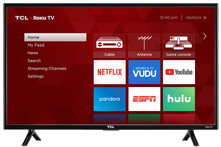 "TCL 49"" Class 3-Series FHD LED Roku Smart TV - Front View"