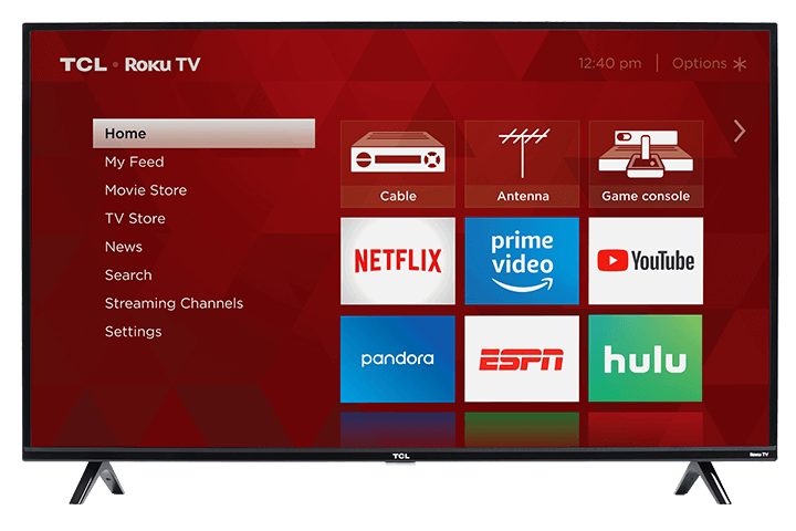 "TCL 43"" Class 3-Series FHD LED Roku Smart TV - Front View"