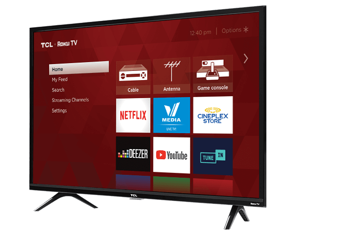 "TCL 40"" Class 3-Series FHD LED Roku Smart TV - Angle View"