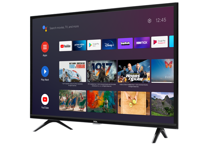 "TCL 32"" CLASS 3-SERIES HD LED Android SMART TV - 32S330 Angled Right"