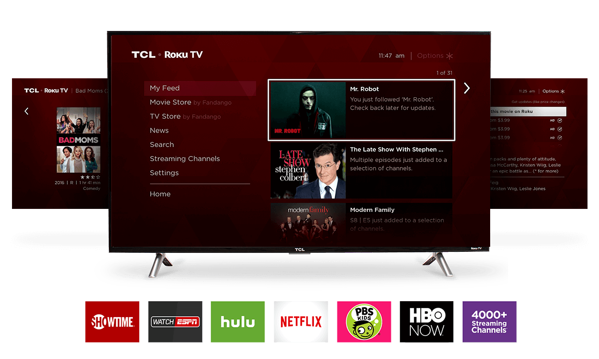 "TCL 40"" Class 3-Series FHD LED Roku Smart TV"