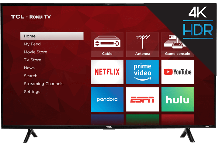 "TCL 43"" Class 4-Series 4K UHD LED Roku Smart TV 43S403 - Front View"
