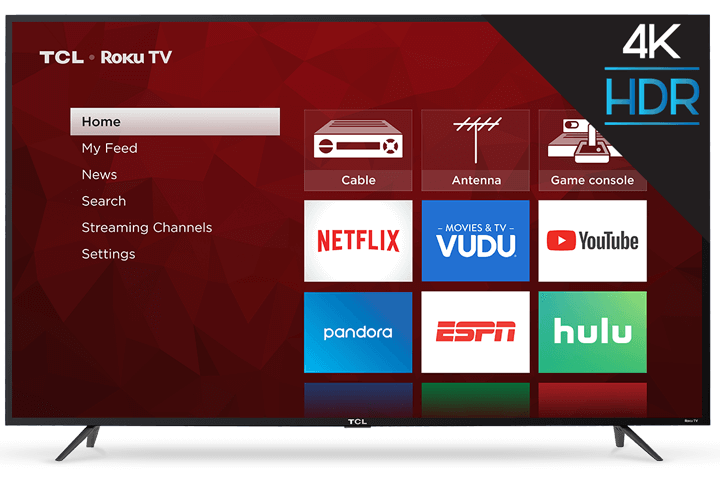 "TCL 65"" Class S-Series 4K UHD HDR Roku Smart TV - Front View"