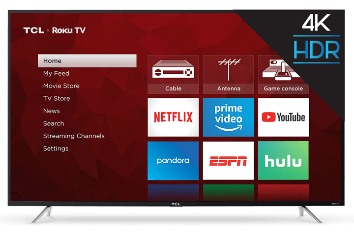 "TCL 65"" Class 4-Series 4K UHD LED Roku Smart TV 65S403 - Front View"