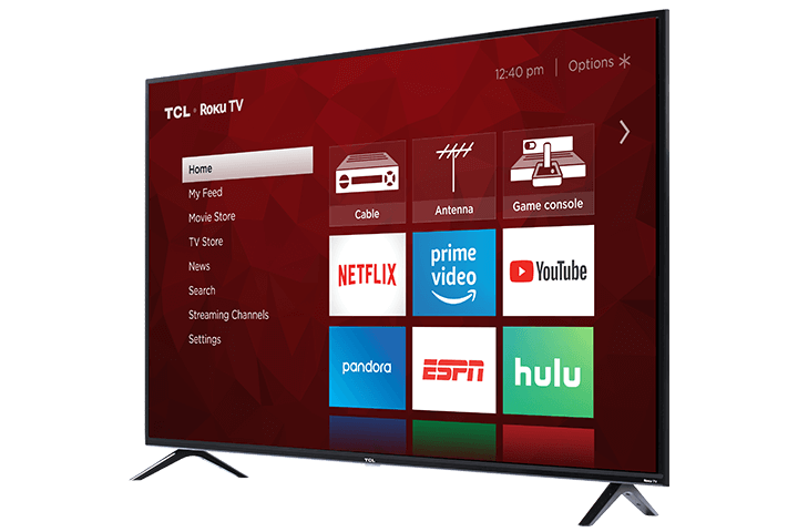 "TCL 65"" Class 4-Series 4K UHD LED Roku Smart TV 65S405"
