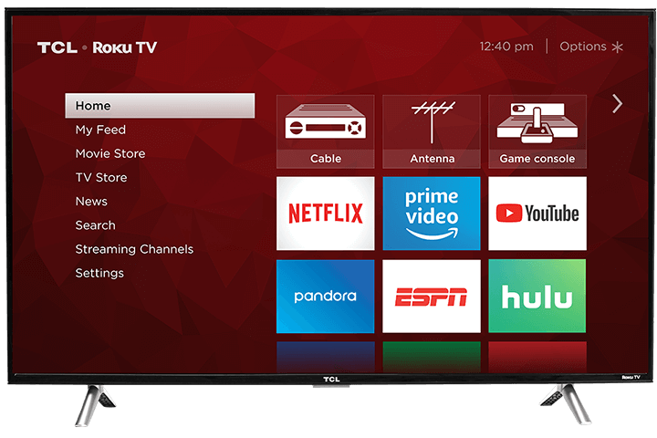 "TCL 43"" Class 4-Series 4K UHD LED Roku Smart TV  43S405 - Front View"