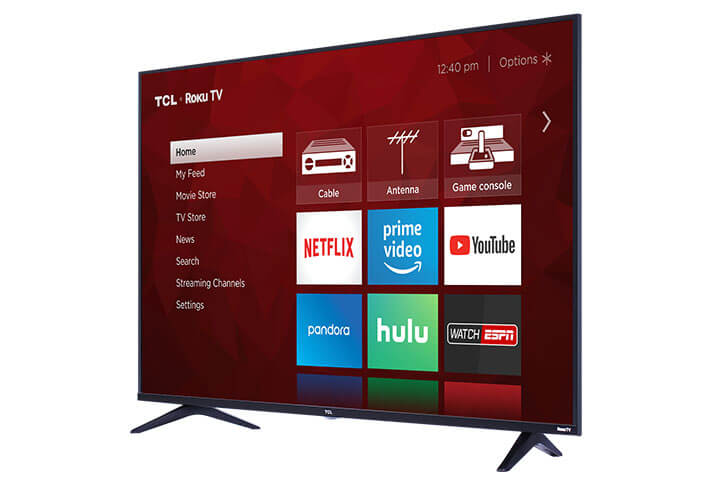 "TCL 43"" Class 5-Series 4K UHD Dolby Vision HDR Roku Smart TV - Angle"