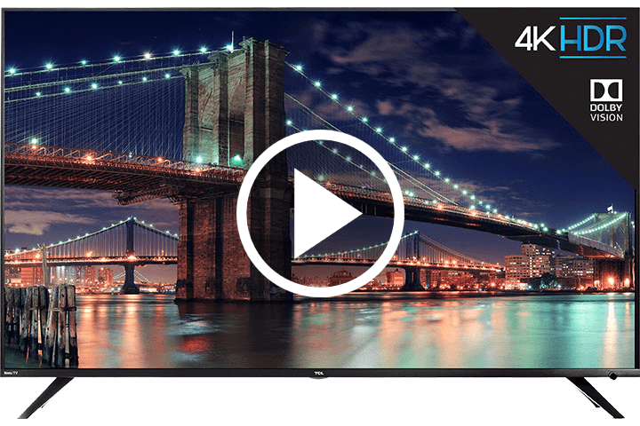 "TCL 55"" Class 6-Series 4K UHD Dolby Vision HDR Roku Smart TV - Video"