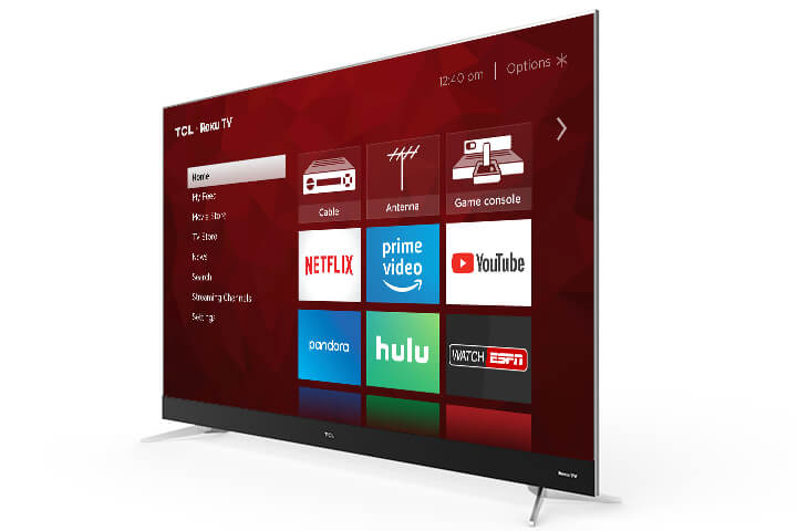 "TCL 75"" Class C-Series 4K UHD Dolby Vision HDR LED Roku Smart TV - Angle - 75C807"