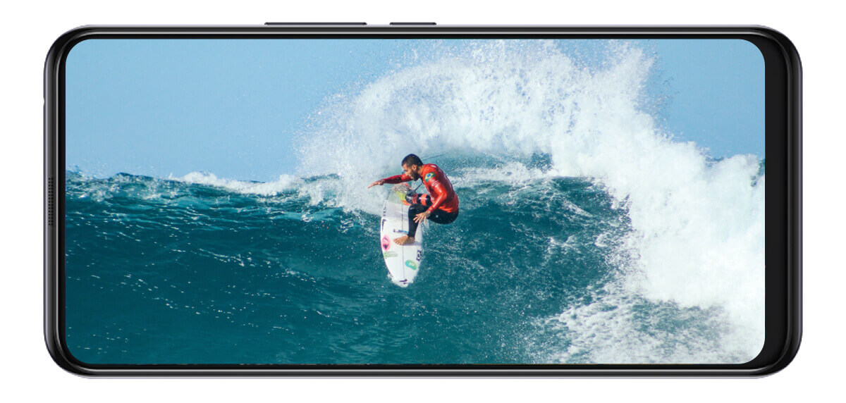 surfer on a phone screen display
