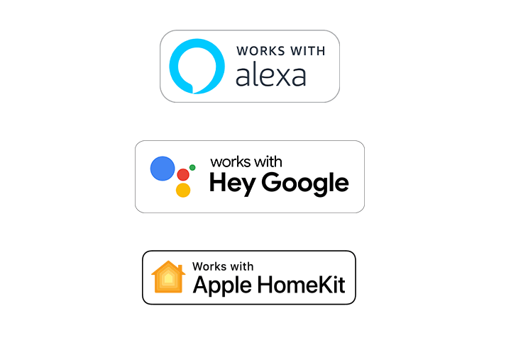 Works with Amazon Alexa and Hey Google